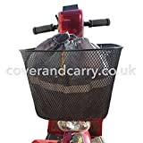 Mobility Scooter Basket Bag Essential Range Produced in a Water Resistant 210D Nylon with Elasticated top and Reflective Safety Strips