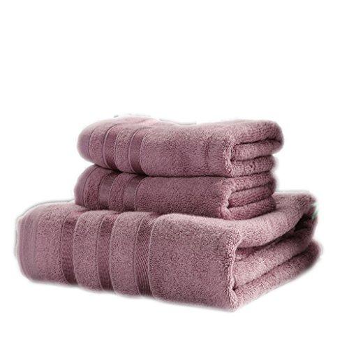 Asciugamano, Cotone, Asciugamani da palestra, Piscina, Camping Sport Viaggi, Pacchetto Da 3 ( Colore : 3#Purple ) 3#Purple