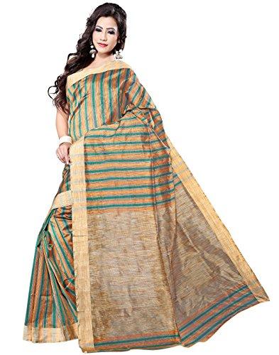 E-Vastram Cotton Silk Saree (Kmg-13 _Green)