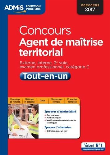 Concours Agent de maîtrise territorial - Tout-en-un - Catégorie C - Concours 2017