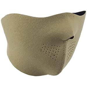 MASQUE DE PROTECTION DEMI NEOPRENE SOUPLE LEGER COYOTE TAN SABLE MILTEC 11666105 AIRSOFT