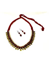 Stylish Oxidized Ethnic Jewelry Party Wear / Daily Wear Stylish Necklace With Matching Earrings For Girls & Women...