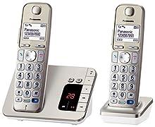 Panasonic KX-TGE222 Telefono DECT Champagne, Oro Identificatore di chiamata