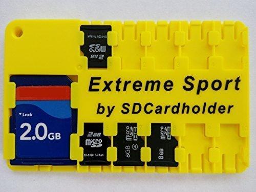 Extreme Sport-Es schwimmt. Micro-SD-Karte Fall, Halter, Organizer Kreditkarte Größe Speichergerät Vorsicht vor billigen chinesischen Knock aus. (Sd-karte Speichergerät)