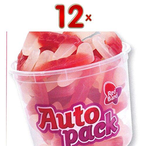 Red Band Autopack Dents Dracula 12 x 175g Box (Fruchtgummi-Vampirzähne)