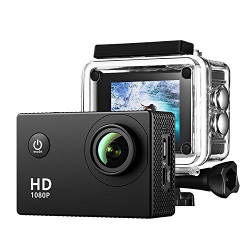Caméra Sport TopElek Caméra Embarquée Étanche 30M Full HD 1080P 12MP Caméra...