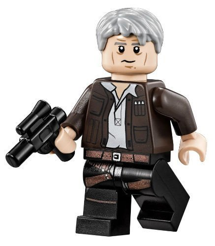 LEGO Star Wars Millennium Falcon Minifigure - Han Solo with Grey Hair (75105) by LEGO