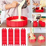 INOVERA (LABEL) Silicone Red Foldable Backing Cake Mould(19x5x0.5cm)
