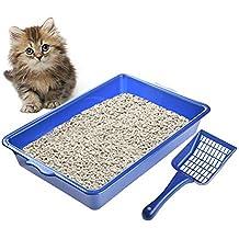Somedays - Arenero semicircular para Gatos con Pala para Mascotas
