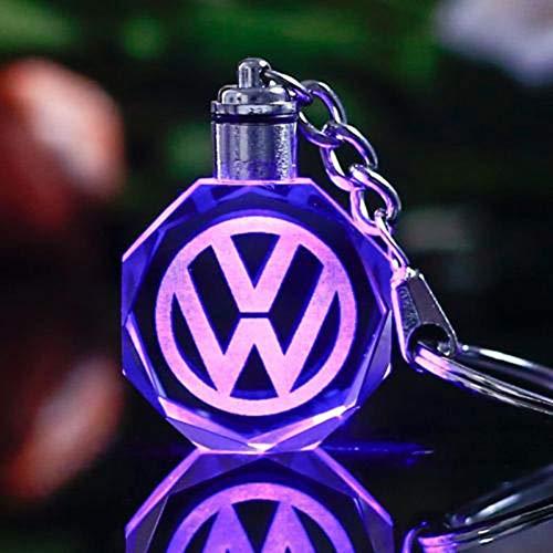 Fitracker 2018 Auto-Logo, Schlüsselanhänger, Kristall, LED, wechselnd,