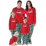 Doublehero Familie Nachtwäsche Set Weihnachten Muster Pyjama Set Herren Damen Kinder Langarm Gedruckt T-Shirt Tops + Hosen Outfits Xmas Schlafanzüge Herbst Winter Sweatshirt Bluse und Hosen
