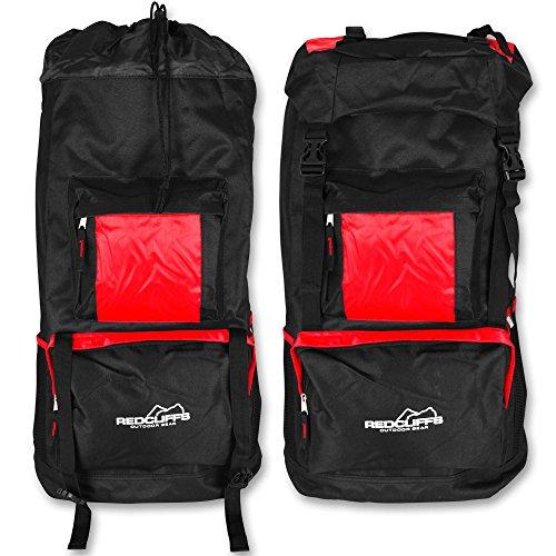 Trekking Rucksack 60 Liter - Wanderrucksack - Sporttasche - Rucksack XL mit Farbauswahl (Rot) Rot