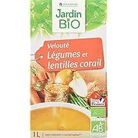 Jardin Bio Velouté Légumes/Lentilles Corail 1 kg - Lot de 4