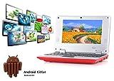 2017 Späteste 8GB Kinder Computer Netbook Notebook 7'VIA8880 mini Android 4.4 Laptop Netbook- HDMI -Wifi-Webcam-Best Weihnachtsgeschenk (Rot)