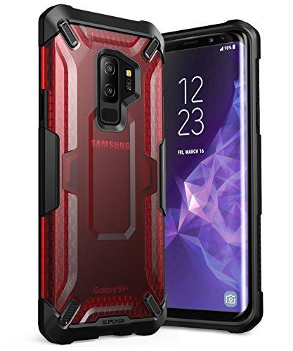 SUPCASE Schutzhülle für Samsung Galaxy S9+ Plus 2018, Einhorn-Beetle-Serie, Premium-Hybrid-Schutzhülle für Samsung Galaxy S9+ Plus 2018, Einzelhandelsverpackung, Frost/Red -