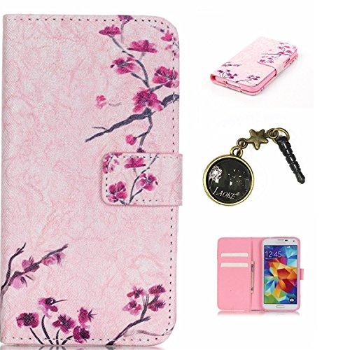 PU Cuir Coque Strass Case Etui Coque étui de portefeuille protection Coque Case Cas Cuir Swag Pour( Samsung Galaxy S5 I9600 )+Bouchons de poussière (S10)