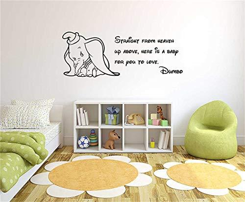 (wandaufkleber kinderzimmer mädchen Dumbo Comic Quote Wall Decal Vinyl Wandkunst Aufkleber Wandbild Kinder)