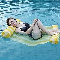 Hamaca Inflable del Agua De La Fila Flotante Silla Creativa Sofá Cama del Aire Reclinable para La Playa De La Piscina De La Playa,Yellow