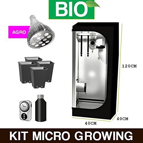 Kit Mini Growbox Einrichtung–LED 40x 40x 120Bio