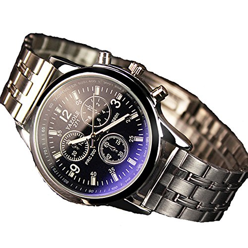 geniessen-reloj-de-pulsera-para-hombre-metal-piel-vidrio-blue-ray-mecanismo-de-cuarzo-analogico