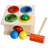 Cheesea Toddlers Pounding Hammer Hit Balls Box Toy