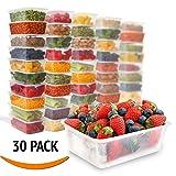 Contenitori per il pranzo in plastica, confezione da 30 pezzi, Zuvo (650 ml), 750 ml