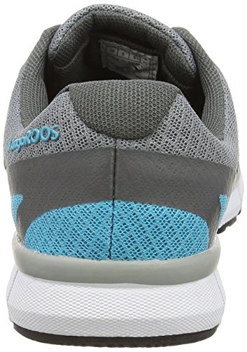 KangaROOS K-bluerun 8017, Baskets Basses mixte adulte Vert - Grün (dk smaragd/ dk grey 824)