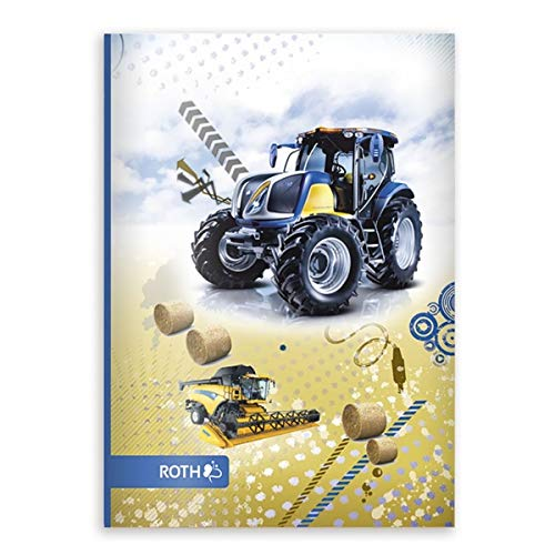 """ROTH Oktavheft \""""Traktor\"""", DIN A6, liniert, 32 Blatt VE=1"""