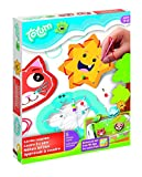 Totum Little Creators Bastel-Set: Nähen lernen mit verschiedenen Nähhilfeschablonen, farbigen Wollfäden, Nadel und Perlen