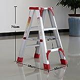 YXX- Weiß 3 Leiter-Schritt-faltender Schemel mit Griff-im Freien Hochwertiger Stufenleiter für Erwachsene Innenportabler Stepladder/Schemel/Speicher-Regal-Blumen-Gestell (Farbe : C)