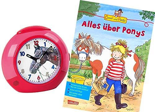 Ohne Ticken Mädchen Pferde mit Lernbuch Conni Buch Alles über Ponys - 1984-1 BU ()