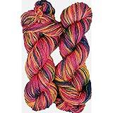 Oswal Knitting Yarn Wool, Multi Rowan 200 gm Woolen Crochet Yarn Thread. Best Used with Knitting Needles, Crochet Needles. Wool Yarn for Knitting. Best Woolen Thread.