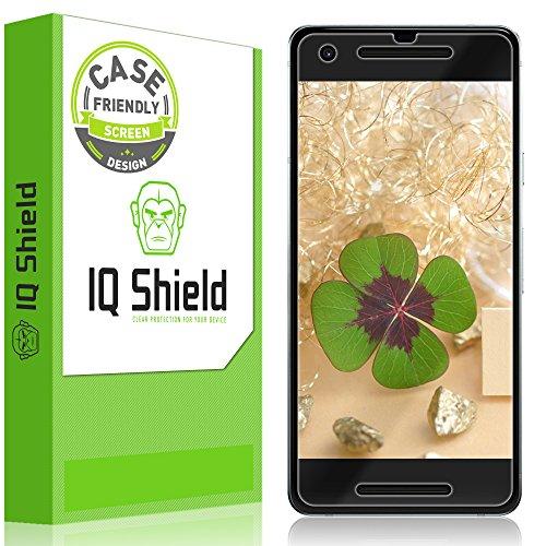 Google Pixel 2Displayschutzfolie (Case-Friendly) Clear HD blasenfrei [Einfach zu installieren] [2er Pack] IQ Shield LiquidSkin Full Deckung Displayschutzfolie für Google Pixel 2 Cell-shield
