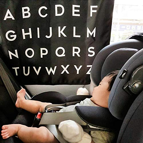 Allowevt Auto Vorhang Sonnenschutz multifunktions Kinder Lernen Vorhang Magnet Absorption Tür Sonnenschutz Universal Reversible Für Baby Kid vividly -