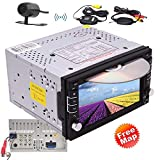 Double Din Car Stereo In-dash Car Radio Receiver with Bluetooth GPS Navigation, 6.2'