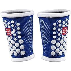 Compressport 3d Dots - Muñequera de fitness para hombre, color azul, talla 42