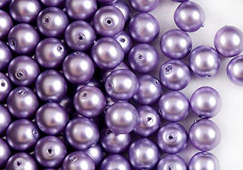 30-piezas-cuentas-de-checa-con-una-perla-recubrimiento-estrela-redondo-8-mm-morado-mate