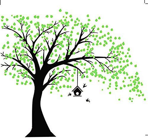 MAFENT Giant Baum Wand Aufkleber Mit Vögel Wandsticker für Wohnzimmer Wandtattoo Kinderzimmer Wand Art Decor Babys Kids Kinder Schlafzimmer Dekoration (Schwarz,Rechts) (Für Baum Kinderzimmer Wandtattoo)