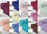 Voice7 New EASY CARE Flat Bed Sheets ~ with FREE Pillowcases ~ Fabric PolyCotton 19 Decent COLORS & UK SIZES (SUPER KING (with FREE Pillowcases), MINT GREEN)