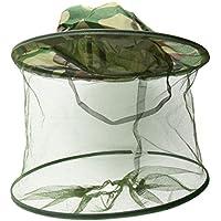 WINOMO Anti-mosquito abeja insectos sombrero con red protección pesca al aire libre equipo (camuflaje)