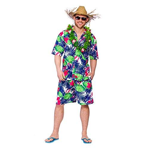 Wicked-Costumes-Disfraz-de-Luau-hawaiano-para-hombre-Incluye-camisa-y-pantalones-cortos-Talla-grande