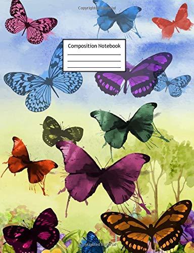 Flutter Butterfly Garden (Composition Notebook: Butterflies | Page Size is 7.44