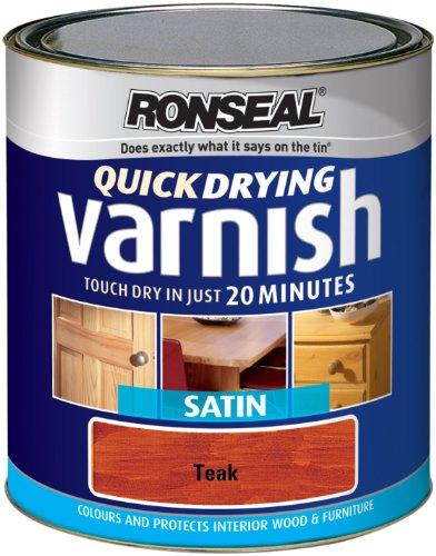 Ronseal QDVSW250 Vernice colorata satinata ad asciugatura