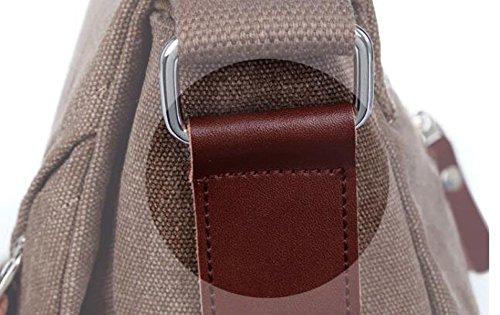 Männer Segeltuchbeutel Diagonales Paket Im Freiensportfreizeit-Schulterbeutel Große Kapazität Multi-Tasche Green