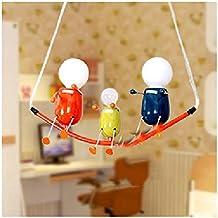 villano de dibujos animados lindo enciende la lámpara duende sala de la lámpara del techo de la personalidad creativa restaurante luces de los niños dormitorio sala de estar