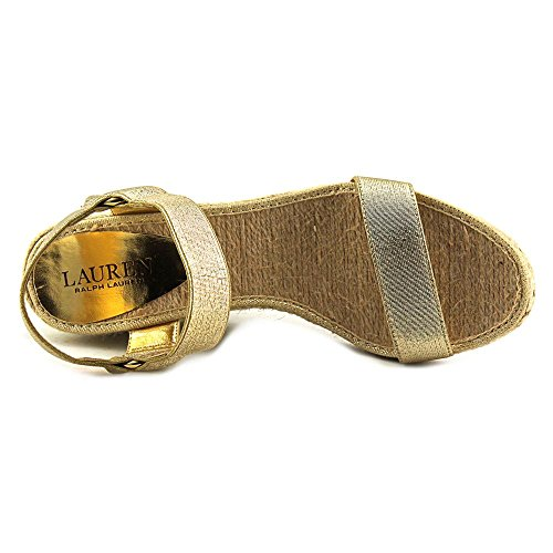 Lauren Ralph Lauren Ilene Damen Textile Keilabsätze Sandale Gold
