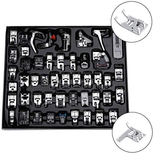 Sunger Nähmaschinen Nähfüße Teile, Home Hohe Qualität Professionelle Dauerhafte Nähmaschinen Zubehör 48 Pcs -
