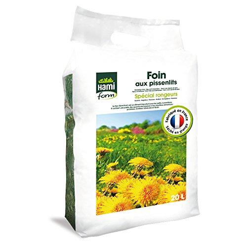 Foin pour Rongeurs, Premium aux pissenlits, 20 L - HAMIFORM