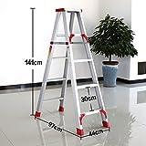 Trittleiter YXX- Aluminium-faltende Leiter-Haushaltswaren-Faltbarer Schritt-Schemel für Erwachsene Hochleistungs-faltender Rutschfester Stufenleiter (Größe : 97*44*141cm)