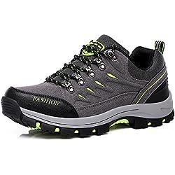 Easondea Chaussures de Randonnée pour Hommes Femmes Bottes de Randonnée Unisexe Chaussures de Marche en Plein Air Bottes Antidérapantes Trekking et Les Promenades, Gris, 42 EU